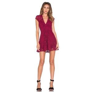 NWT For Love & Lemons Sienna Mini Dress Scarlet S